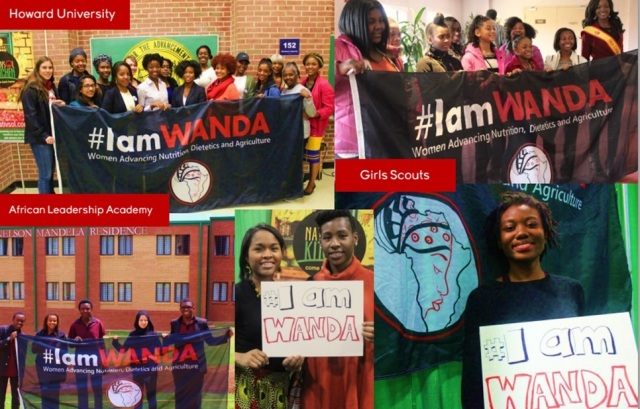 #IAmWanda A global initiative.  to encourage, engage and empower women & girls to advance their education and leadership in agriculture, nutrition and dietetics.